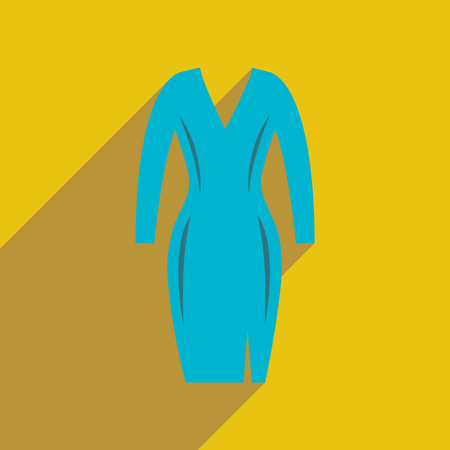 forties: Flat icon with long shadow  elegant dress
