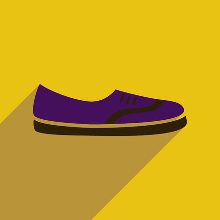 moccasin: Flat icon with long shadow  moccasin shoes