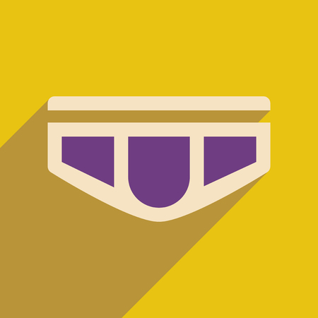 men's: Flat icon with long shadow  mens underwear Illustration