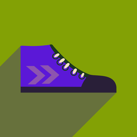 freaky: Flat icon with long shadow casual gumshoes