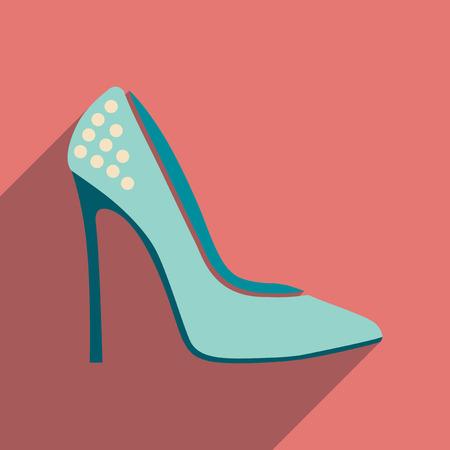 Flat icon with long shadow stiletto heels Vektorové ilustrace