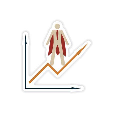 depletion: stylish sticker on paper man economic schedule