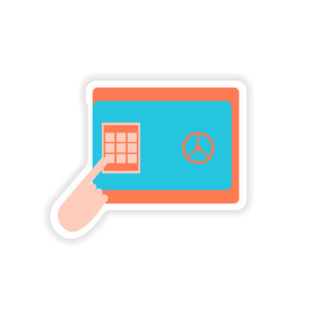 paper pin: stylish sticker on paper pin code password safe