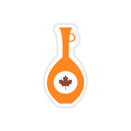 pitcher: paper sticker Canadian pitcher on white background