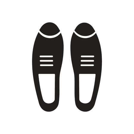 foot gear: Flat icon in black and white  male shoes