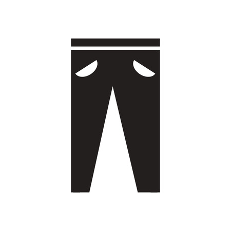 trousers: Flat icon in black and white  men trousers