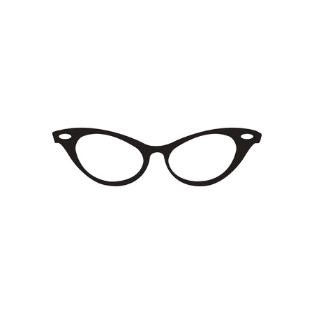 spectacle frame: Flat icon in black and white  eyeglasses Illustration