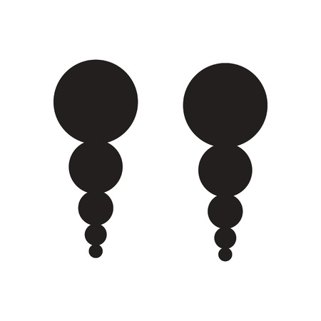 earrings: Flat icon in black and white  earrings