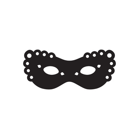masquerade masks: Flat icon in black and white  masquerade masks