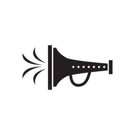 mouthpiece: Flat icon in black and white  mouthpiece Illustration