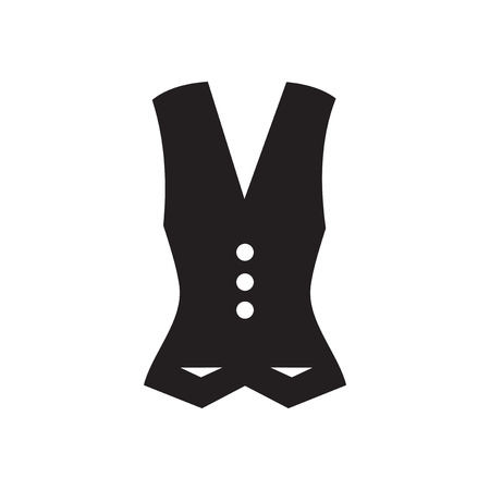 warmer: Flat icon in black and  white  Waistcoat Illustration