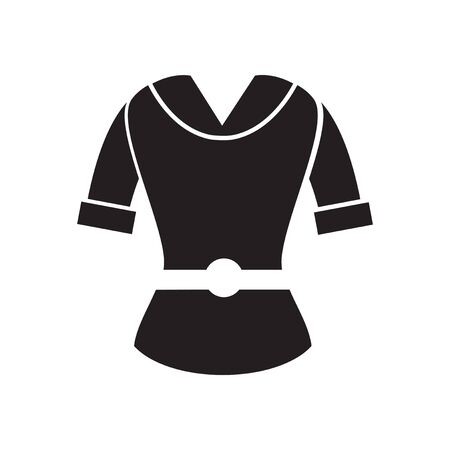 cardigan: Flat icon in black and  white  women cardigan