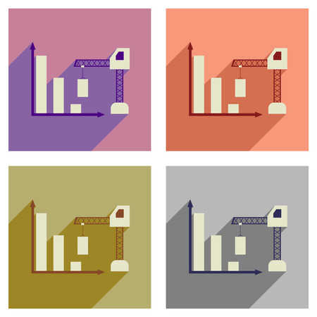 metaphoric: Concept of flat icons with  long shadow  construction schedule Illustration