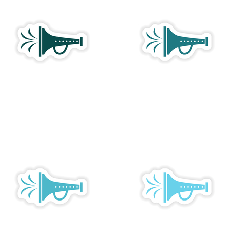mouthpiece: concept stylish paper sticker on white background mouthpiece