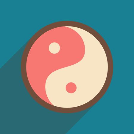 karma design: yin yang symbol of harmony