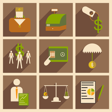 leadership key: Modern flat icons vector collection with shadow economy money business