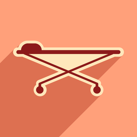 move: Icon of medical stretcher in flat style