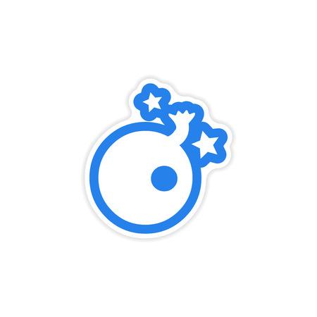 wick: stylish sticker bomb with a wick and stars