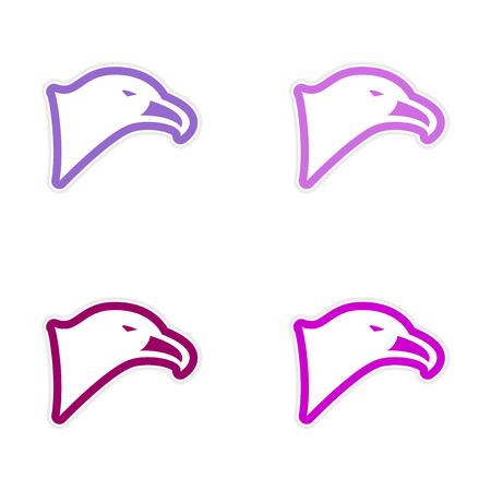 assembly: assembly sticker eagles head Illustration