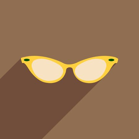 the accessory: Flat icon with long shadow glasses accessory