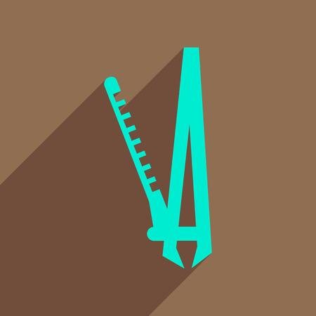 rulos: icono de plano con las mujeres de largas sombras eléctricas rizadores