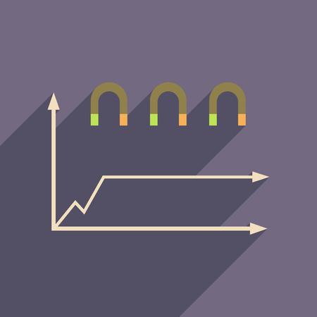 economic: Flat web icon on white  background economic graph Illustration