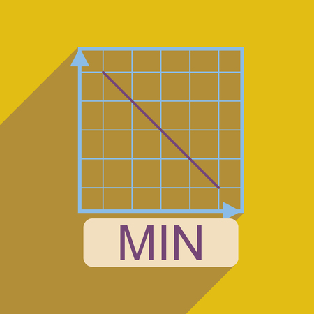 Flat web icon with long  shadow falling graph Illustration