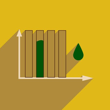 Flat web icon with long  shadow water chart Illustration