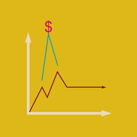 Flat web icon on  stylish background monetary infographics