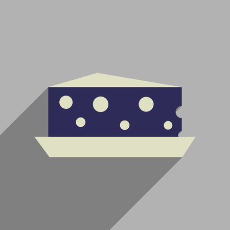 cheez: Flat web icon with long  shadow cheese Holland