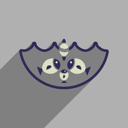 dorado: Flat web icon with long  shadow fish fishing