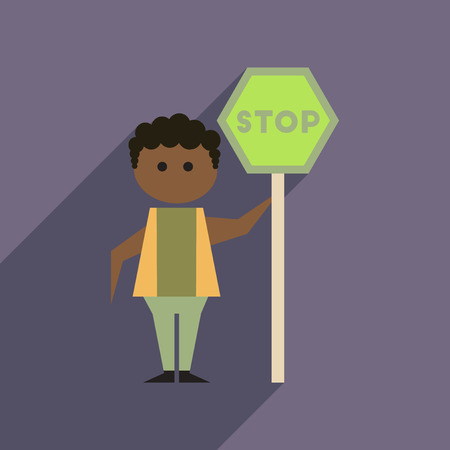 racism: Flat web icon with long  shadow stop racism Illustration