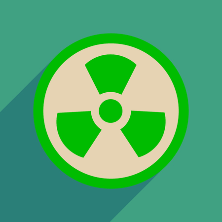 Flat web icon with long  shadow toxic symbol