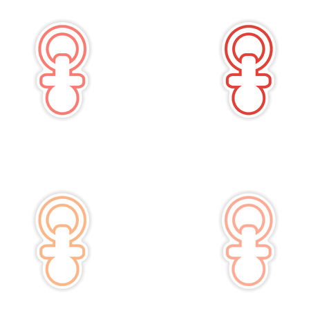 toddler: Set of stickers  onnipple toddler white background