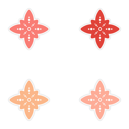 jain: Set of stickers Indian sign on white background Illustration