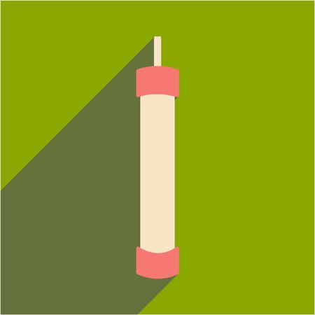figura: Plano com ícone de sombra e hookah mão de aplicativos móveis