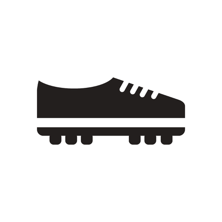 soccer shoes: Flat icon in black and  white soccer shoes