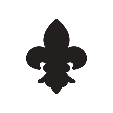 french culture: Flat icon in black and  white French symbol