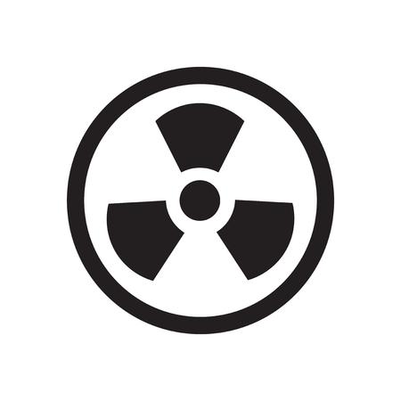 icone plat en noir et blanc toxique