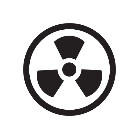 Flat icon in black and  white toxic