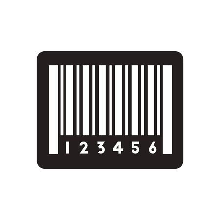 medical scans: Flat icon in black and  white barcode