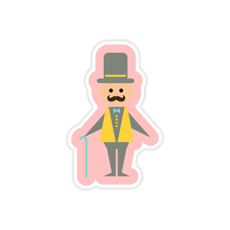 father of the bride: paper sticker on white background father bride