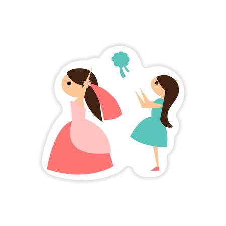 paper sticker on white background bride throws bouquet