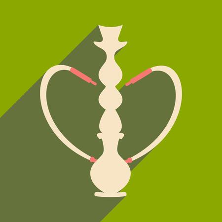 figura: Plano com pictograma sombra e aplicação móvel hookah shisha