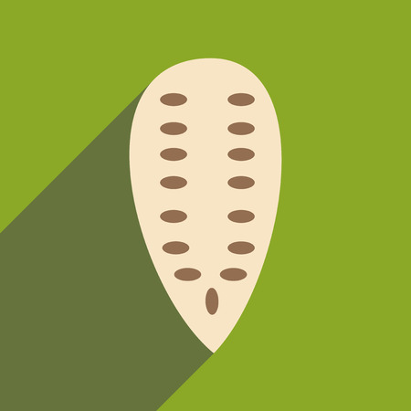 pumpkin seeds: Flat with shadow icon and mobile application Pumpkin seeds