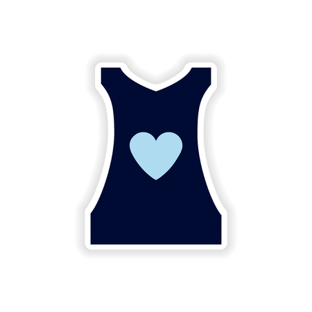 unifrom: stylish paper sticker on white background womens T-shirt