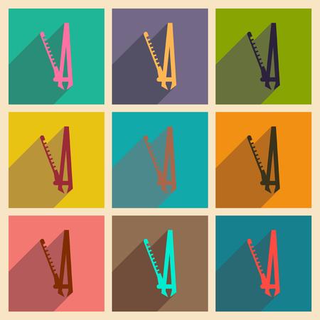 rulos: iconos planos del vector de la colección moderna con los bigudíes de pelo sombra
