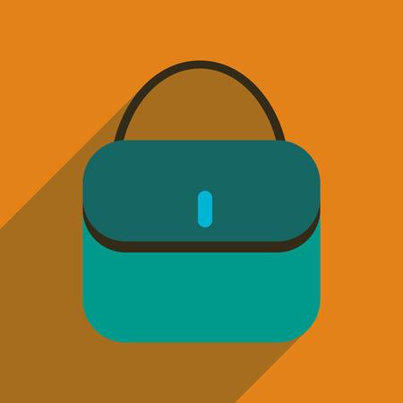 clutch bag: Flat icon with long shadow clutch bag Illustration