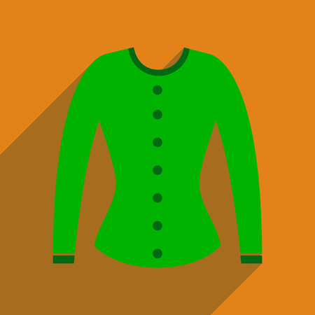 bolero: Flat icon with long shadow  women cardigan