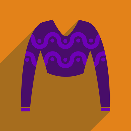 Flat icon with long shadow  Women sweater